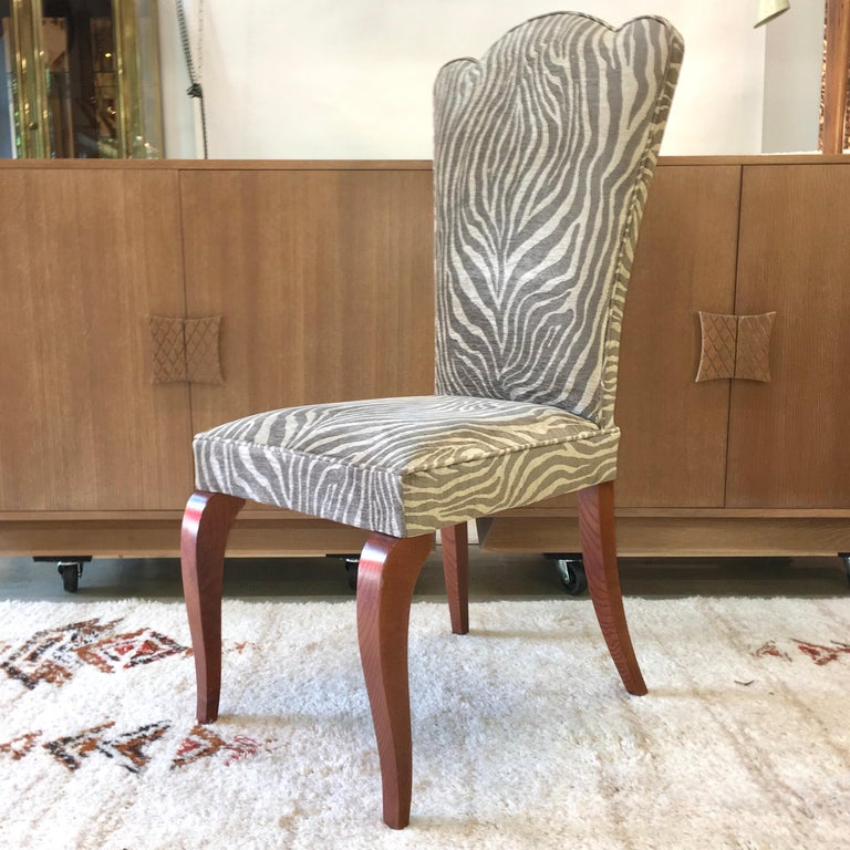 Mid-20th Century Eight French 1940s Dining Chairs For Sale