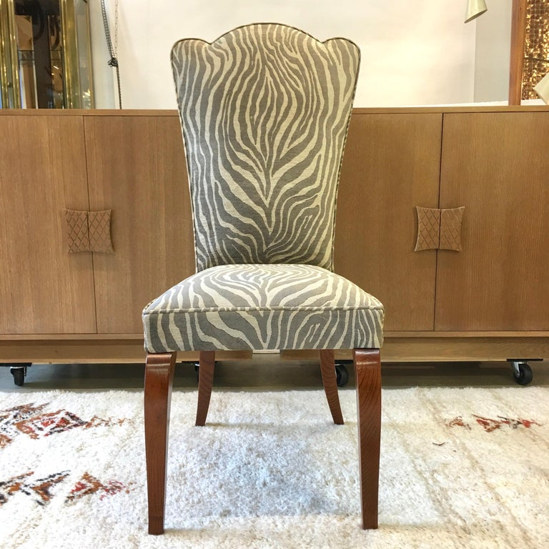 Eight French 1940s Dining Chairs For Sale 1
