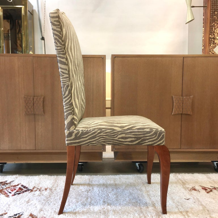 Eight French 1940s Dining Chairs For Sale 3