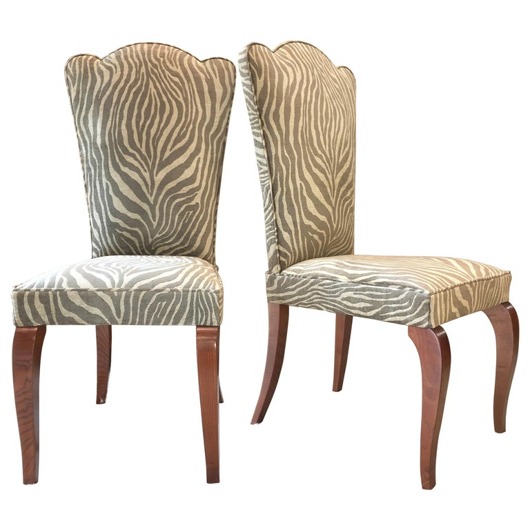 Eight French 1940s Dining Chairs For Sale