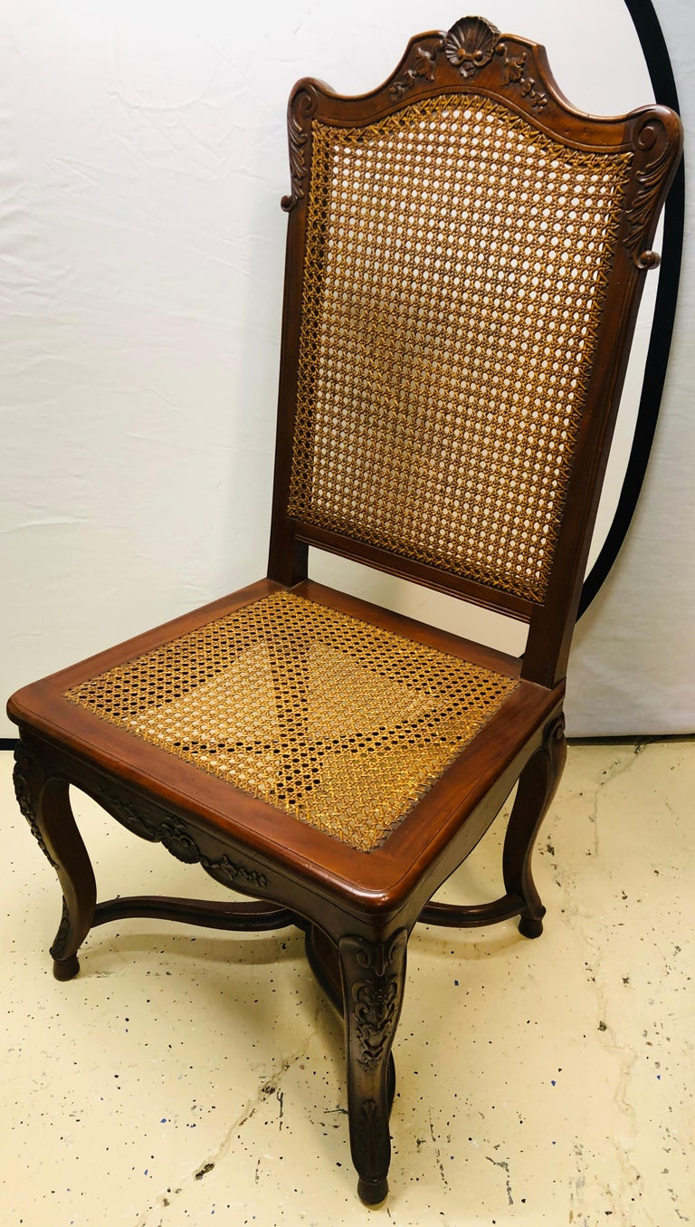 Eight French Country Chairs, Louis XV In Good Condition For Sale In Stamford, CT
