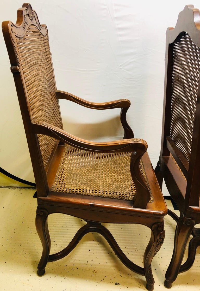 20th Century Eight French Country Chairs, Louis XV For Sale