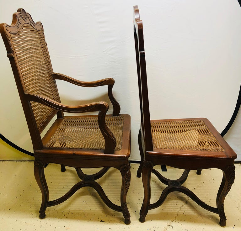 Eight French Country Chairs, Louis XV For Sale 1