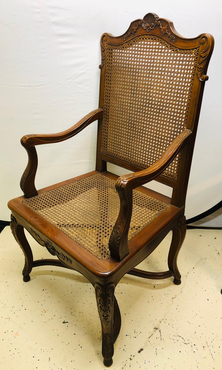 Eight French Country Chairs, Louis XV For Sale 2