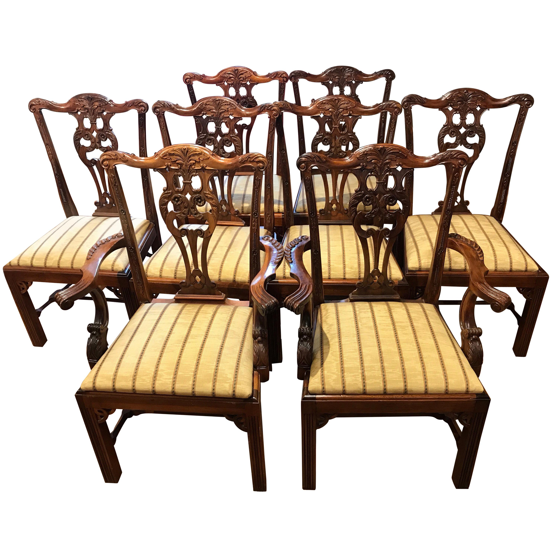 Eight George III  Style Mahogany Dining Chairs