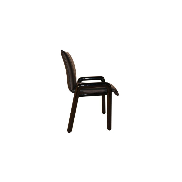 "Eight Guido Faleschini Italian ""Dilos"" Dining Chairs by i4 Mariani for Pace For Sale 1"