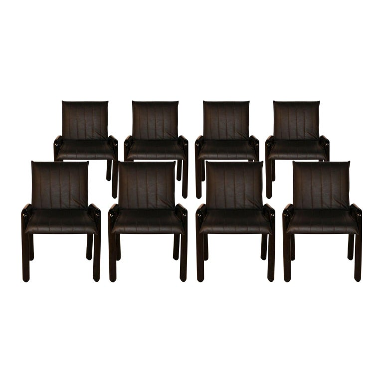 "Eight Guido Faleschini Italian ""Dilos"" Dining Chairs by i4 Mariani for Pace For Sale"
