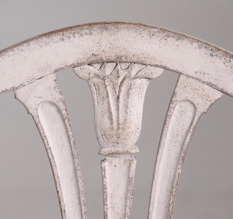 Eight Gustavian Style Chairs, Late 19th Century For Sale 1