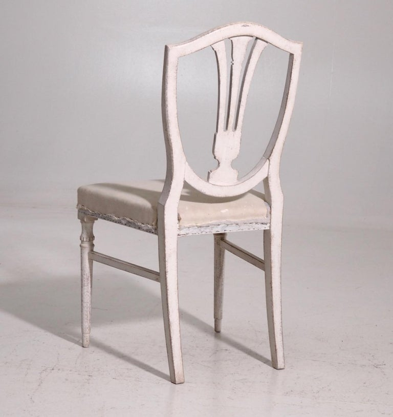 Eight Gustavian Style Chairs, Late 19th Century For Sale 3