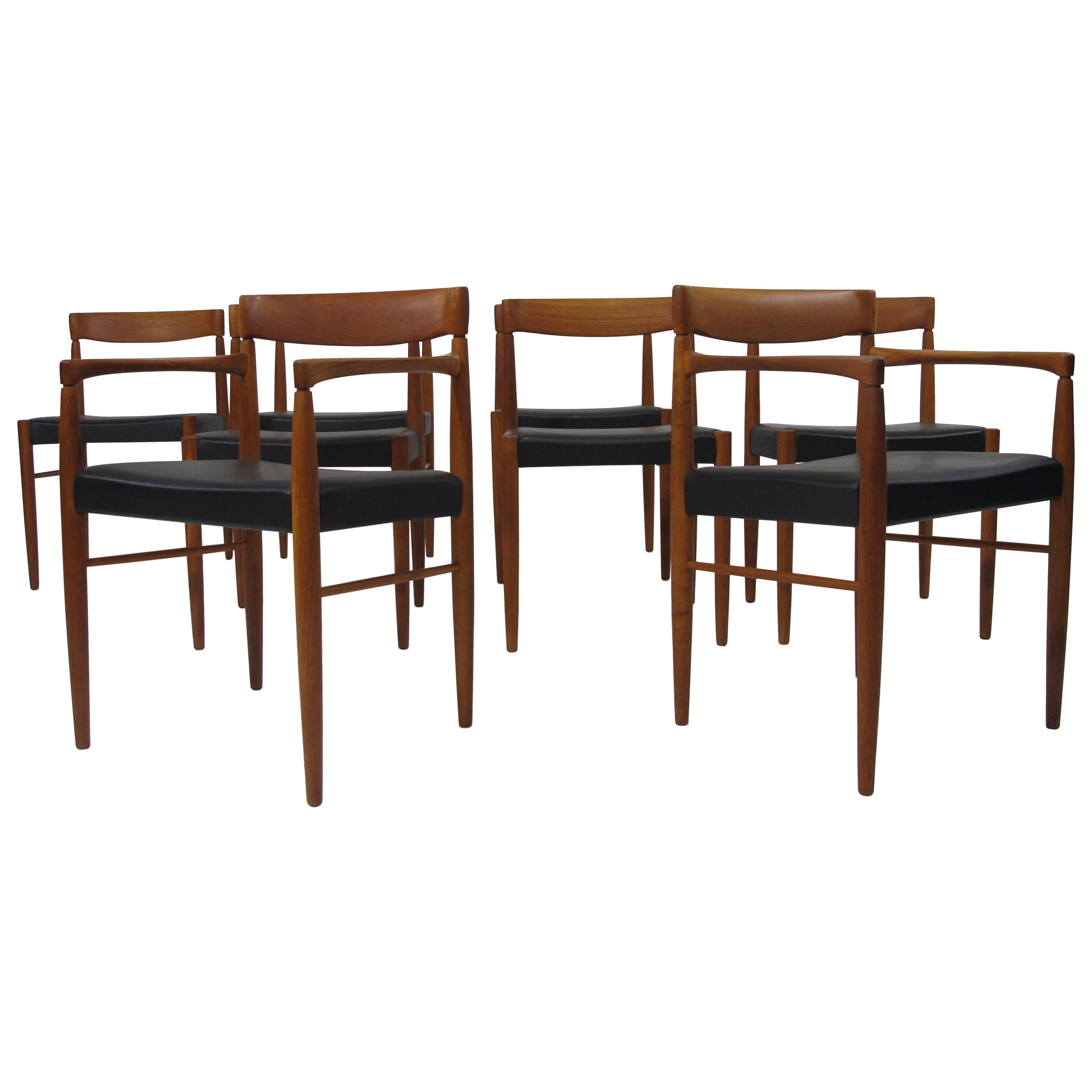 Eight H. W. Klein for Bramin Danish Teak Dining Chairs '8'