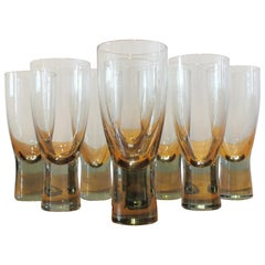 Eight Holmegaard Canada Glasses by Per Lutken