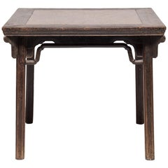 Eight Immortals Square Table with Puddingstone Inlay