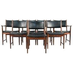 Eight Kai Lyngfeldt Larsen for SW Mobler Side/Dining Chairs