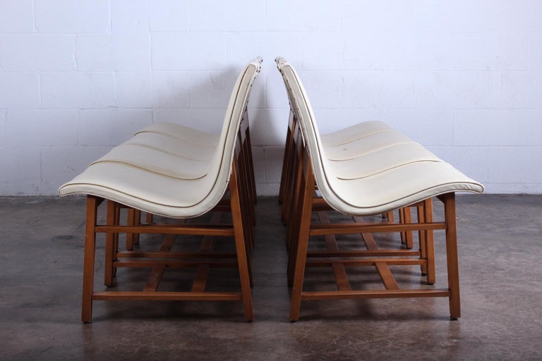 A rare set of eight chairs by Charles Eames and Eero Saarinen for the Kleinhans Music Hall, Buffalo, 1939.   The Kleinhans music hall chair is an early collaboration by Charles Eames and Eero Saarinen involving molded plywood. Developed at the