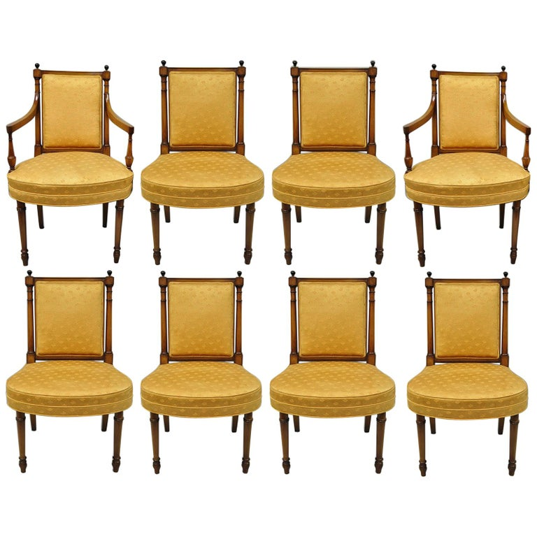 Remarkable Eight Maslow Freen Empire Directoire Style Mahogany Dining Chairs Pabps2019 Chair Design Images Pabps2019Com