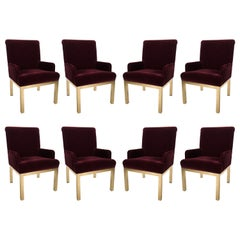 Eight Milo Baughman for Design Institute of America Brass Dinning Chairs