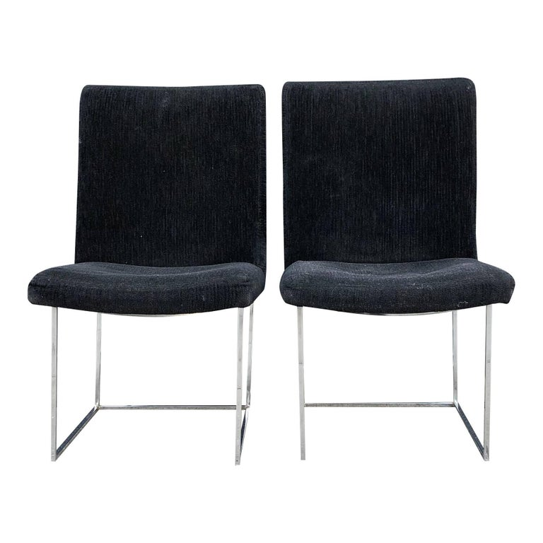 Eight Milo Baughman for Thayer Coggin Thin Chrome Dining Chairs For Sale 5