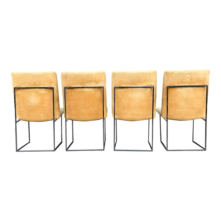Eight Milo Baughman for Thayer Coggin Thin Chrome Dining Chairs For Sale 1