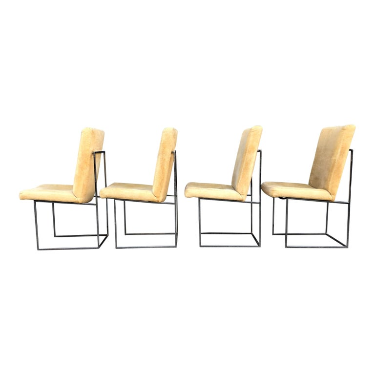 Eight Milo Baughman for Thayer Coggin Thin Chrome Dining Chairs For Sale 2
