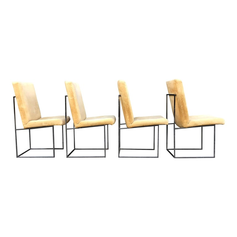 Eight Milo Baughman for Thayer Coggin Thin Chrome Dining Chairs For Sale 4