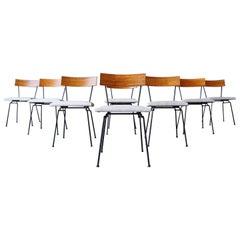 Eight Muriel Coleman California Modernist Dining Chairs