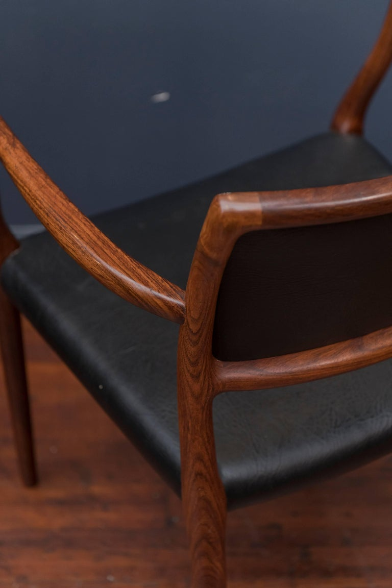Eight Niels O. Møller Model 80 and 77 Rosewood Dining Chairs For Sale 3