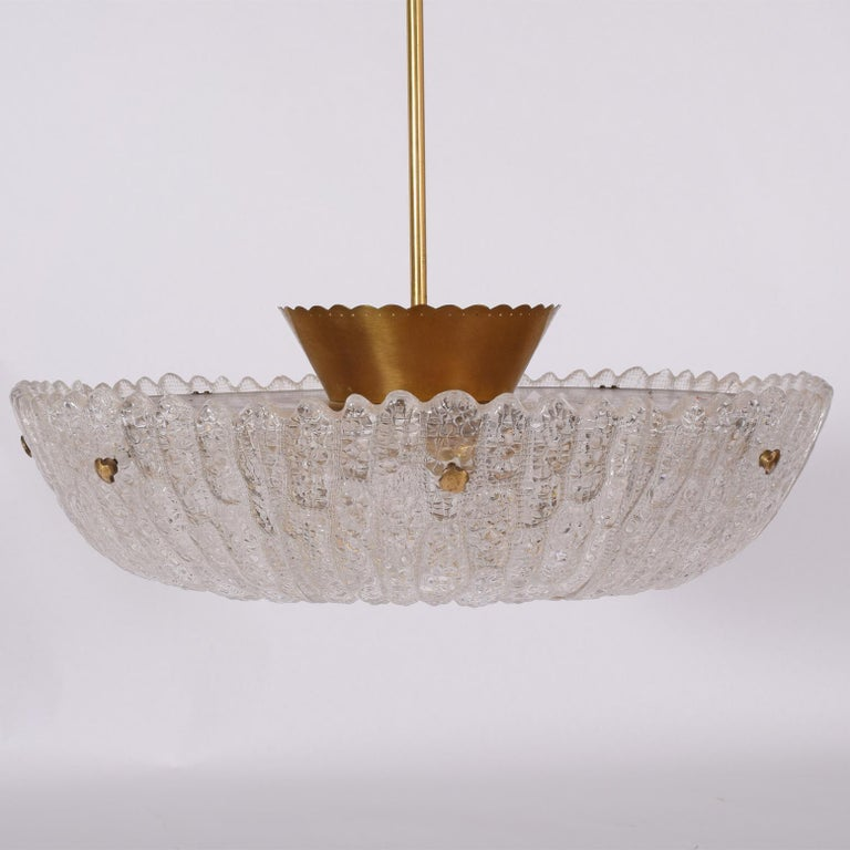 Swedish Eight-Panel Pendant Lamp by Carl Fagerlund for Orrefors For Sale
