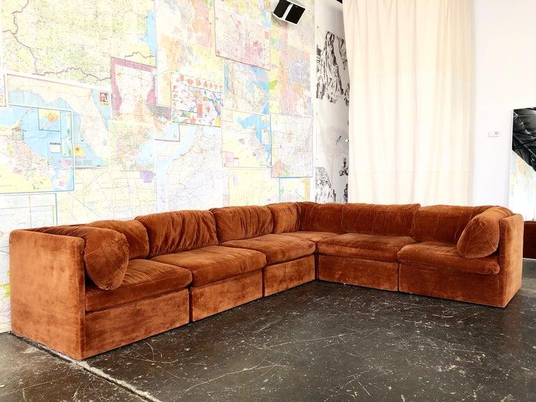 Eight Piece Modular Sofa By Milo Baughman For Thayer