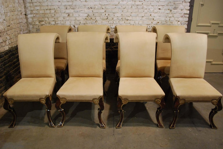 Eight-Piece Set Rose Tarlow Puccini Chairs Sand-Colored Alcantara Upholstery In Good Condition For Sale In Casteren, NL