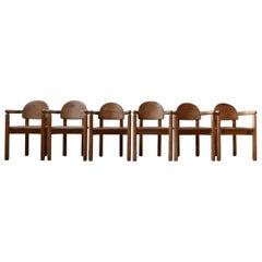 Eight Rainer Daumiller Mid-Century Dining Chairs
