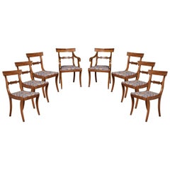 Eight Regency Mahogany Dining Chairs