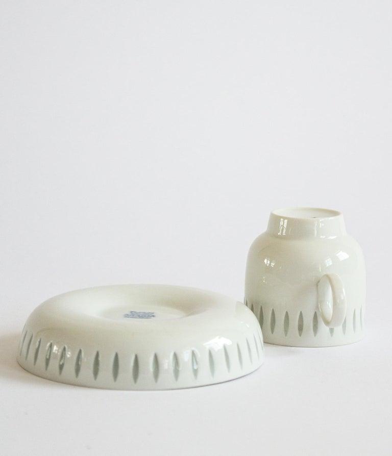 Porcelain Eight Scandinavian Modern Mocha Cups by Friedl Holzer-Kjellberg for Arabia For Sale