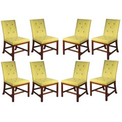 Eight Scottish Chippendale Dining Chairs, 19th Century