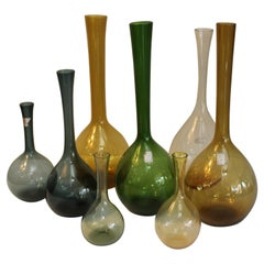 Eight Swedish Glass Vases Designed by Arthur Percy