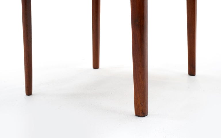 Eight Teak with Black Leather Dining Chairs by Niels Otto Møller For Sale 2