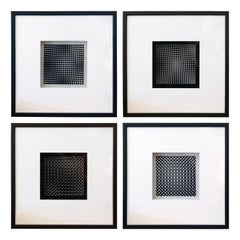 Eight Vasarely Prints, Oeuvres Profondes