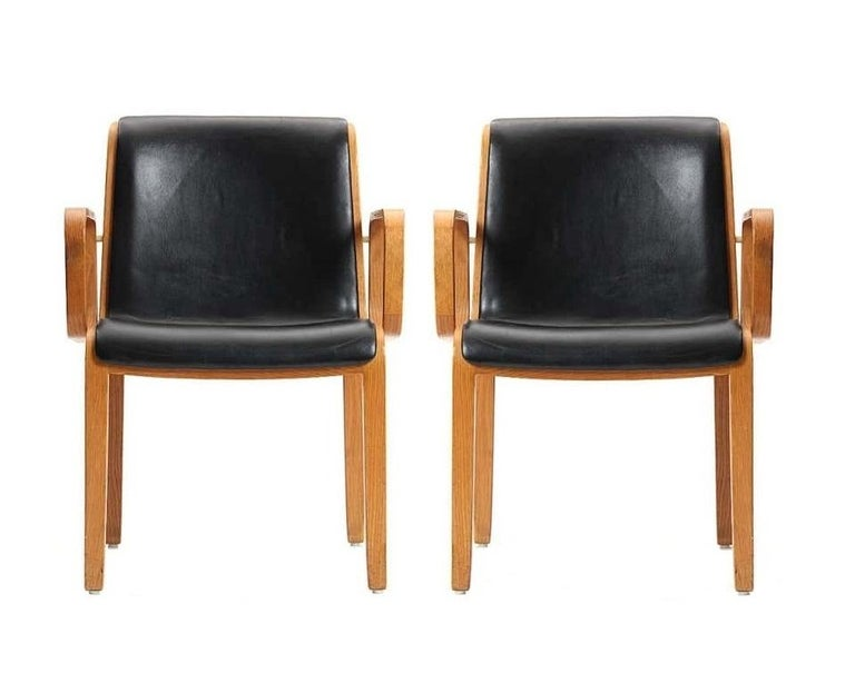 Eight Vintage Armchairs by Bill Stephens for Knoll In Good Condition In Dallas, TX