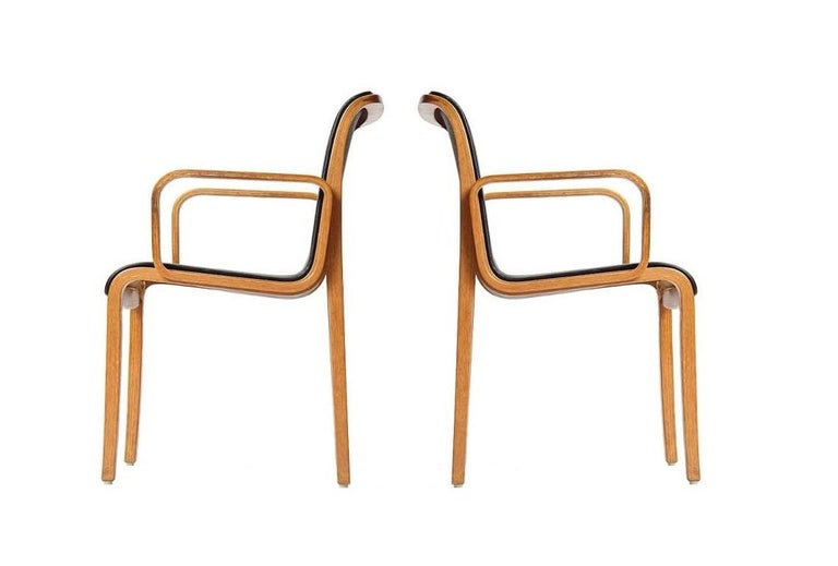 Late 20th Century Eight Vintage Armchairs by Bill Stephens for Knoll
