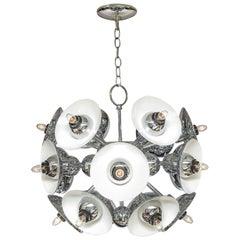 Eighteen-Light Chrome Sputnik Chandelier