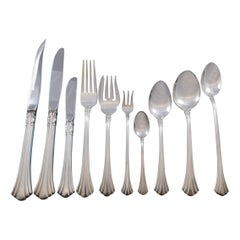 Eighteenth 18th Century by Reed & Barton Sterling Silver Flatware Set 89 Pieces