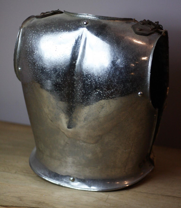 Steel 18th Century British Cavalry Armour Breastplate For Sale