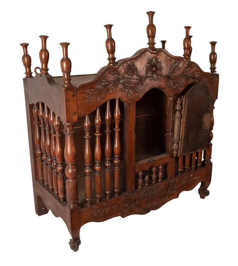 18th Century and Earlier Eighteenth-century French Carved Walnut Panettiere For Sale