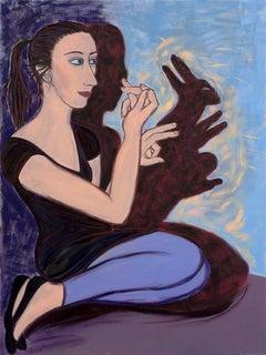 Run Rabbit Run, 2013 - Eileen Cooper (Figurative Painting)