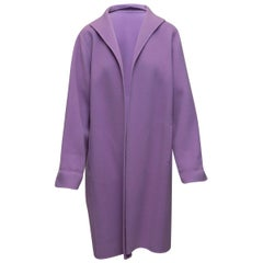 Eileen Fisher Pastel Purple Wool Coat