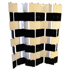 "Eileen Gray Black and White Lacquered ""Brick"" Screen"