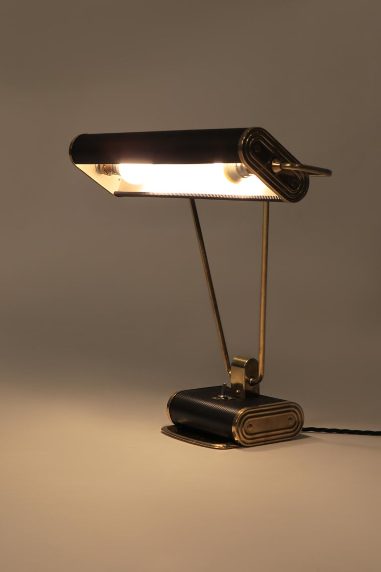 Mid-Century Modern Eileen Gray Desk Lamp Jumo, 1940s For Sale