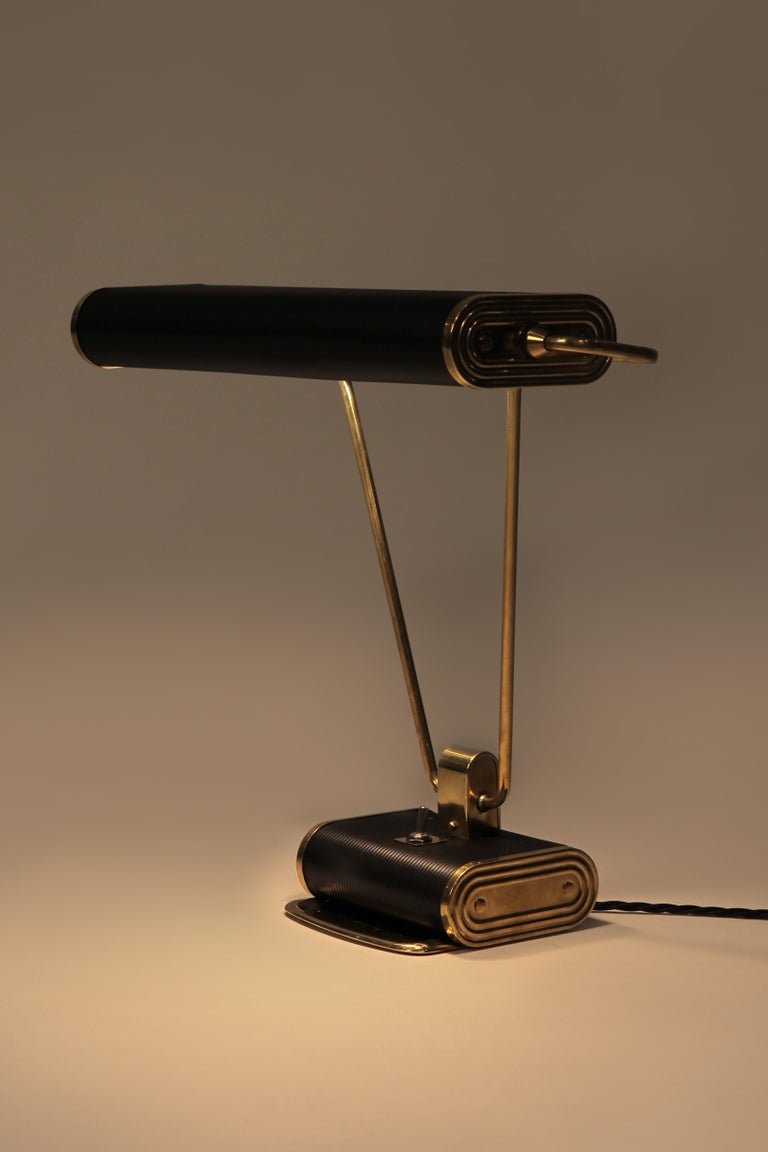 French Eileen Gray Desk Lamp Jumo, 1940s For Sale