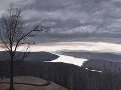Cusp (Photorealist Landscape Painting of the Hudson River Valley from Olana)