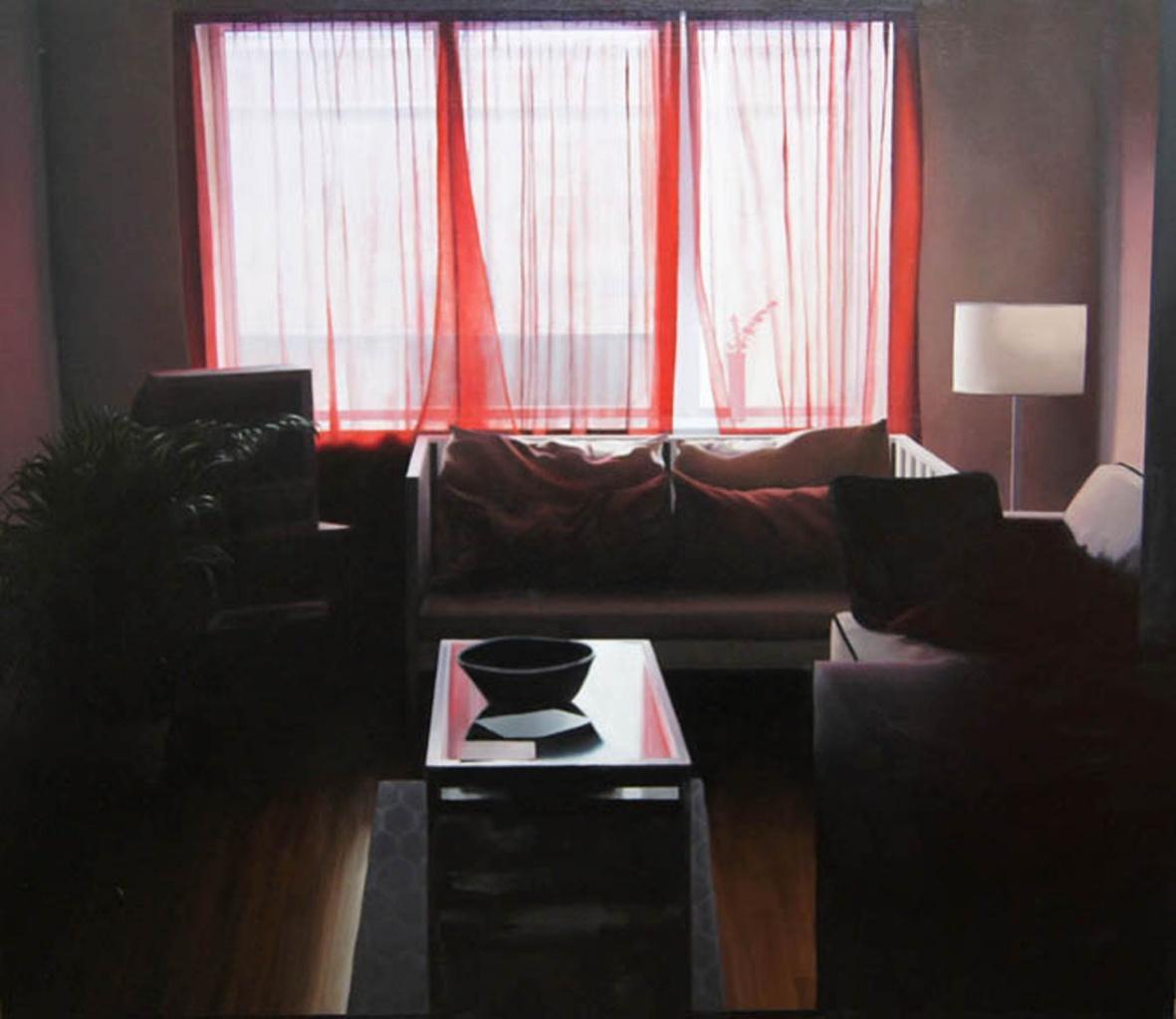 904 Bedford, realist interior geometric oil painting, 2010