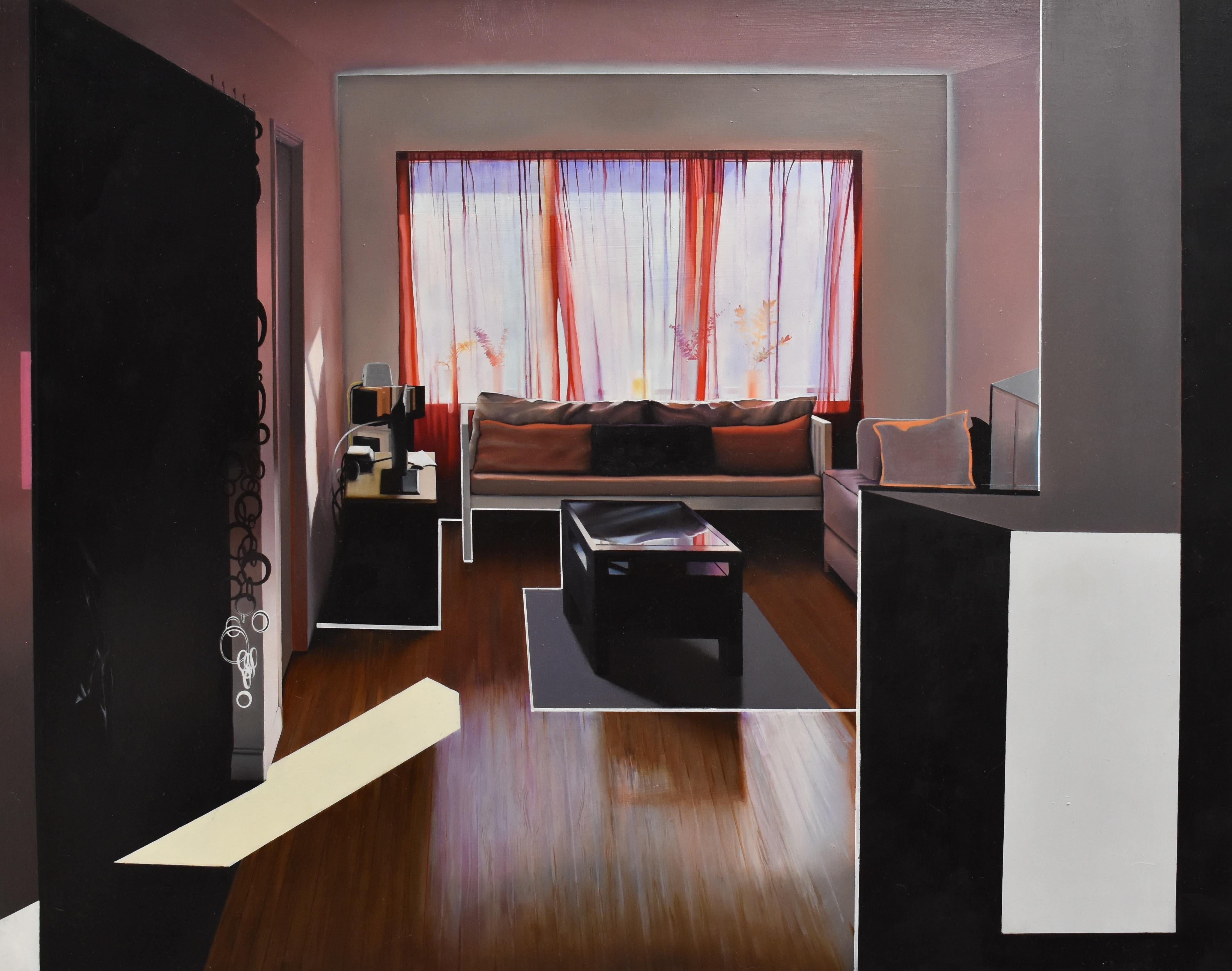 April in My Old Home, realist interior oil painting, 2013